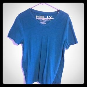 Helix - Turquoise short-sleeved v-neck